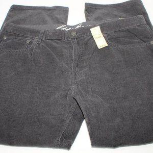 Eddie Bauer Corduroy Mens 40x30 NWT Straight Pants